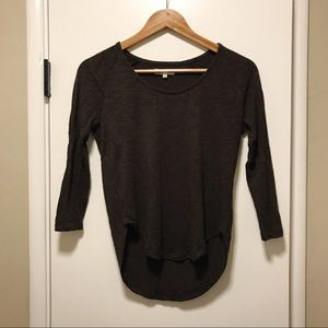 Madewell Brown 3/4 Sleeves Top